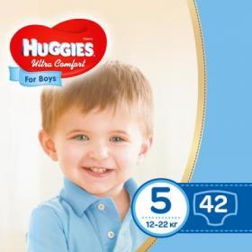 Подгузник Huggies Ultra Comfort 5 Jumbo для мальчиков (12-22 кг) 42 шт (5029053565408)