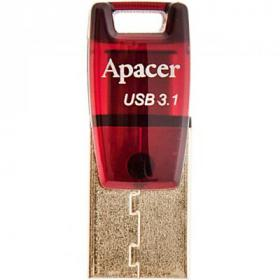 USB флеш накопитель Apacer 32GB AH180 Red Type-C Dual USB 3.1 (AP32GAH180R-1)