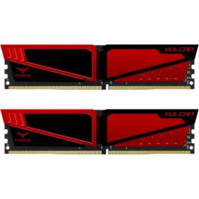 Модуль памяти для компьютера DDR4 8GB (2x4GB) 2666 MHz T-Force Vulcan Red Team (TLRED48G2666HC15BDC01)