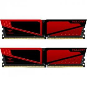 Модуль памяти для компьютера DDR4 16GB (2x8GB) 3000 MHz T-Force Vulcan Red Team (TLRED416G3000HC16CDC01)