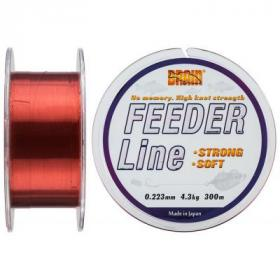 Леска Brain fishing Feeder 300 m 0,223 mm #1.7, 4.3 kg, 9.5 lb, ц.: copper (1858.70.03)