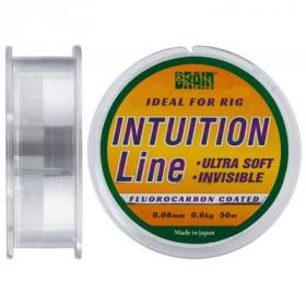 Леска Brain fishing Intuition 50m 0,08 mm #0,22 0,6 kg 1,2 lb ц.: clear (1858.70.11)