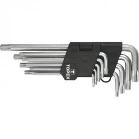 Набор инструментов Topex ключи шестигранные Torx T10-T50, набор 9 шт.*1 уп. (35D961)
