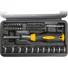 Набор инструментов Topex насадок 39D524 с держателем, Cr-V (39D524)