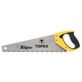 """Ножовка Topex по дереву, 400 мм, """"Aligator"""", 7TPI (10A441)"""