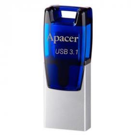 USB флеш накопитель Apacer 16GB AH179 Blue USB 3.1 OTG (AP16GAH179U-1)