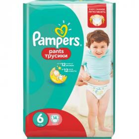 Подгузник Pampers Pants Extra Large (15+ кг) Упаковка 14 шт (8001090414359)