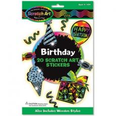 Развивающая игрушка Melissa&Doug Набор наклеек-царапок День рождения (MD5828)