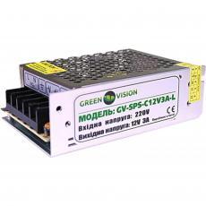 Блок питания GreenVision GV-SPS-C 12V3A-L (3447)