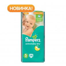 Подгузник Pampers Active Baby-Dry Junior (11-18 кг), 58шт (4015400264811)
