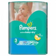 Подгузник Pampers Active Baby-Dry Midi (4-9 кг), 15шт (4015400583523)