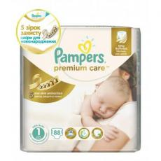 Подгузник Pampers Premium Care Newborn (2-5 кг) 88 шт (4015400741602)