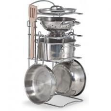 Игровой набор Melissa&Doug Pots & Pans Set посуда из нержавеющей стали (MD14265)
