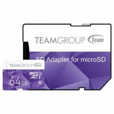 Карта памяти Team 64GB microSD Class10 UHS-I (TCUSDX64GUHS41)