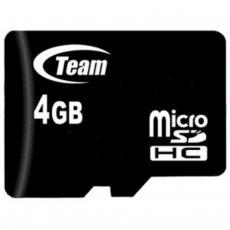 Карта памяти Team 4GB microSD Class 10 (TUSDH4GCL1002)