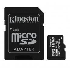 Карта памяти Kingston 16GB microSD class 10 UHS-I Industrial (SDCIT/16GB)