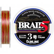 Шнур Sunline Super Braid 5 200m #3.0/0.27мм 17кг (1658.05.89)