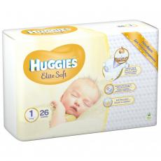 Подгузник Huggies Elite Soft 1 Conv (2-5 кг) 26 шт (5029053564876)