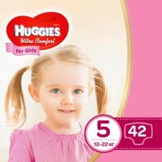 Подгузник Huggies Ultra Comfort 5 Jumbo для девочек (12-22 кг) 42 шт (5029053565392)