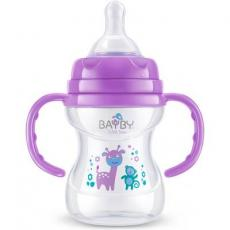 Бутылочка для кормления BAYBY 150 мл 6 мес+ фиолетовый (BFB6105)