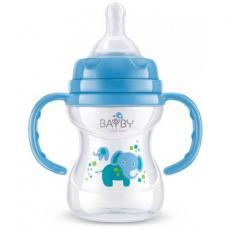 Бутылочка для кормления BAYBY 150 мл 6 мес+ синий (BFB6104)