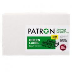 Картридж PATRON HP LJ CF280A GREEN Label (DUAL PACK) (PN-80ADGL)