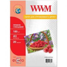 Бумага A3 Premium WWM (G180.A3.20.Prem)