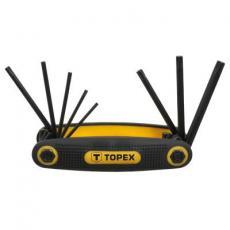 Набор инструментов Topex ключи шестигранные Torx T9-T40, набор 8 шт. (35D959)