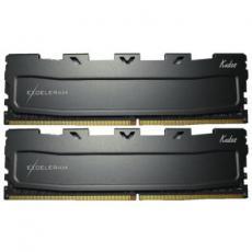 Модуль памяти для компьютера DDR4 16GB (2x8GB) 2400 MHz Black Kudos eXceleram (EKBLACK4162414AD)