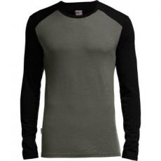 Термофутболка Icebreaker Tech Top LS Crewe MEN monsoon/black S (103 306 003 S)