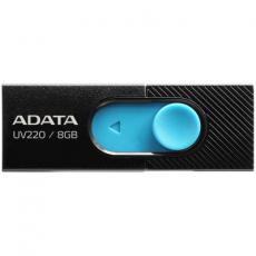 USB флеш накопитель A-DATA 8GB UV220 Black/Blue USB 2.0 (AUV220-8G-RBKBL)