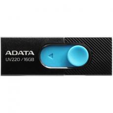 USB флеш накопитель A-DATA 16GB UV220 Black/Blue USB 2.0 (AUV220-16G-RBKBL)