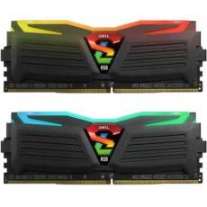 Модуль памяти для компьютера DDR4 16GB (2x8GB) 3000 MHz Super Luce Black RGB LED GEIL (GLC416GB3000C16ADC)