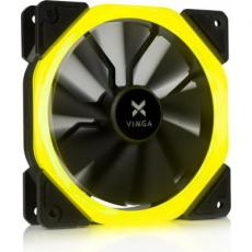 Кулер для корпуса Vinga LED fan-01 yellow