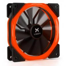 Кулер для корпуса Vinga LED fan-02 red