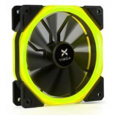Кулер для корпуса Vinga LED fan-02 yellow