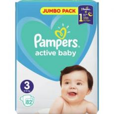 Подгузник Pampers Active Baby Midi Размер 3 (6-10 кг), 82 шт. (8001090948175)