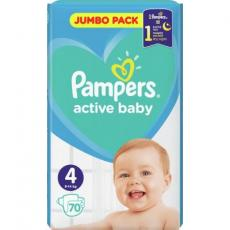 Подгузник Pampers Active Baby Maxi Размер 4 (9-14 кг), 70 шт. (8001090948250)