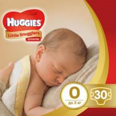 Подгузник Huggies Little Snugglers (до 3 кг) 30 шт (36000673302)