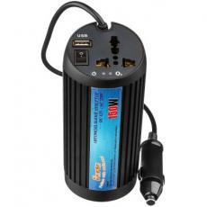Автомобильный инвертор PORTO 12V/220V 150W, USB, ионизатор, Black (MNY-150B)