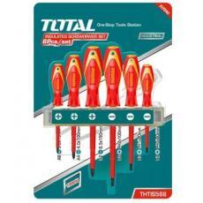 Набор инструментов TOTAL отверток электрика Sl, Ph, 6шт. (THTIS566)