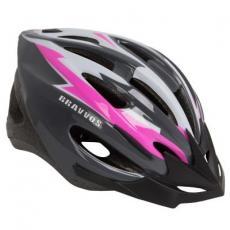 Шлем Velotrade HEL128 черно-бело-розовый М (HEAD-003)