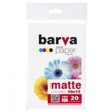 Бумага BARVA 10x15,180 g/m2, matt, 20арк (A180-257)