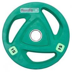Диск для штанги HouseFit олимпийский 15 кг (OR-102-15)