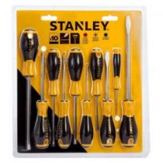 Отвертка Stanley отверток ESSENTIAL, 10 ед. (Ph 0, 1, 2, Pz 1, 2, Sl: 5.5, 3, (STHT0-60211)