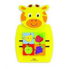 Развивающая игрушка Viga Toys Жираф с фруктами бизиборд (50680)