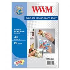 Бумага WWM A4 magnetic, matte, 20л (M.MAG.20)