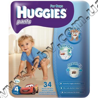 5ca83642dbdb Подгузник Huggies Pants Jumbo 4 Boy (9-14 кг), 34 шт. (5029053544328 ...